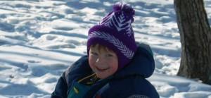 Sarah on Winter Playground