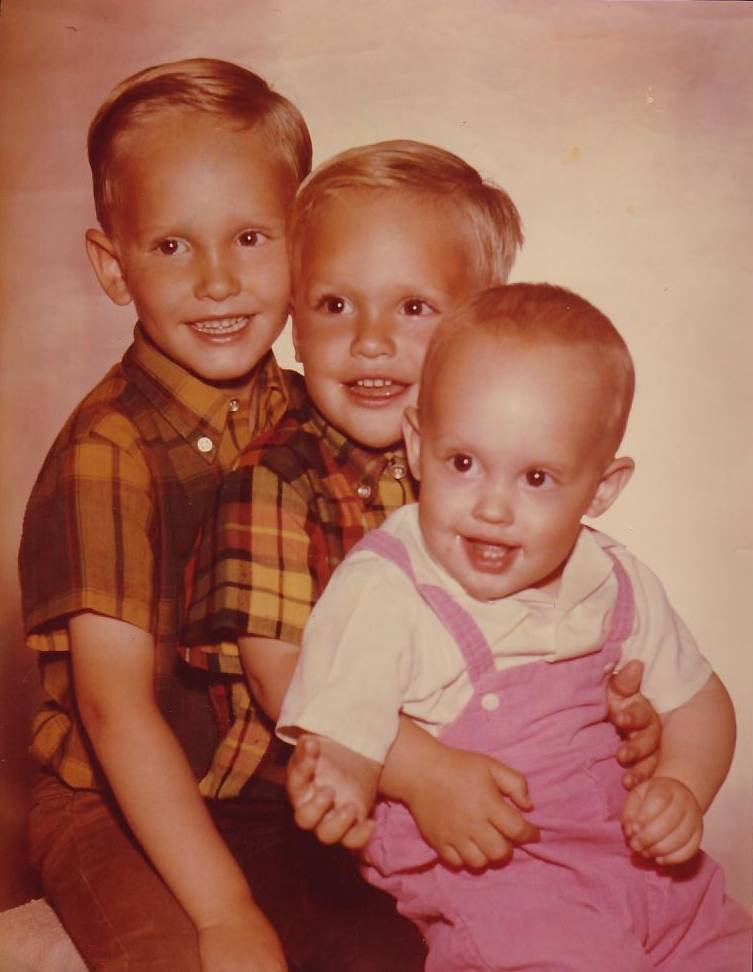Me and my younger brothers Tom and Rodney ca. 1969