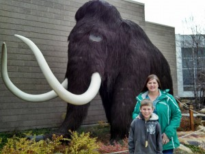 Denny and his mom with a Mammoth