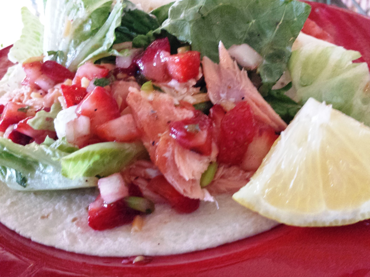 John M. Simmons Summer Salmon with Strawberry Salsa - John M. Simmons