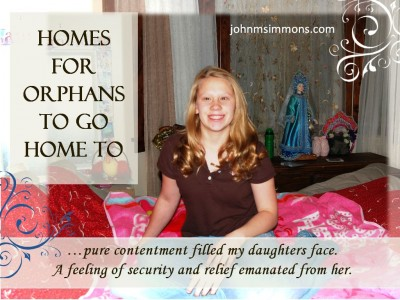 Photo of Orphan with the first home she could return to