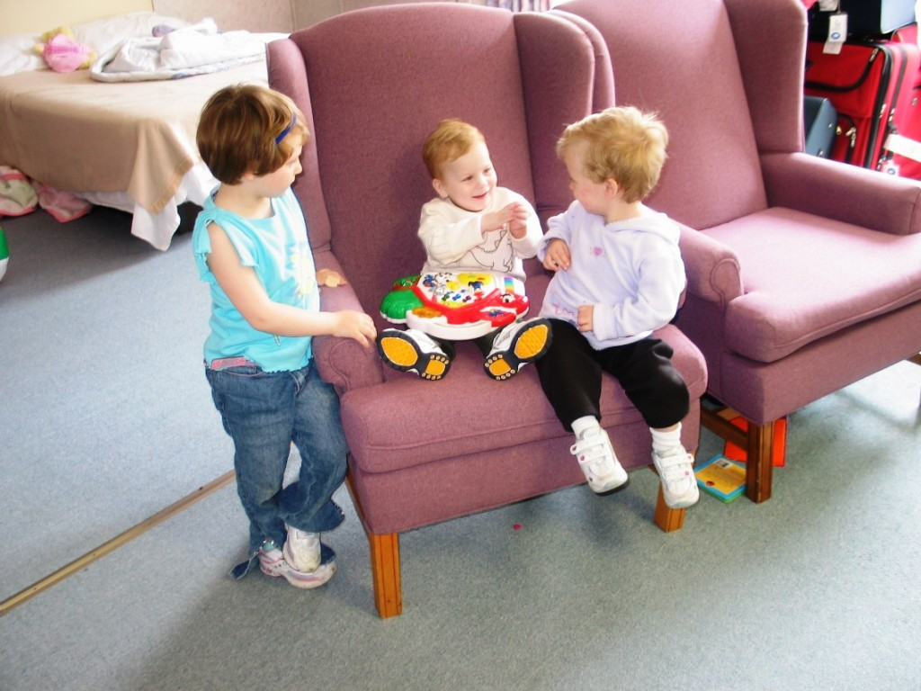 Sarah and Celeste meet Kirrill (Denney)