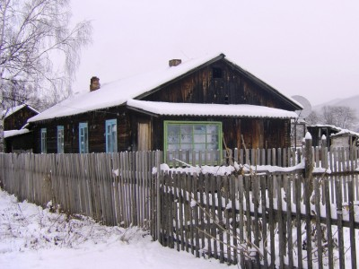 Photograph of cottage in Russian village