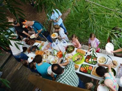 Family Reunion Table Spread