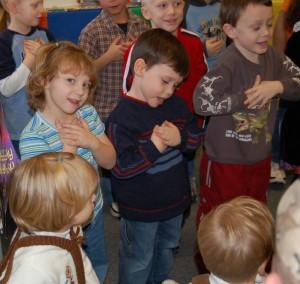 Sarah Simmons in Kindergarten