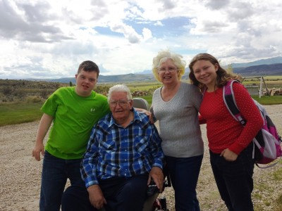 Kids and Grandparents in Kamas Utah