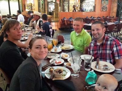 John M Simmons Family at Churrascaria