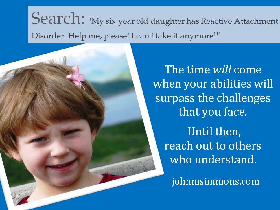 Reactive Attachment Disorder Help