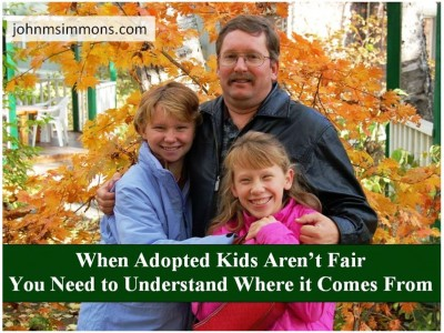 Sometimes adopted children aren't fair