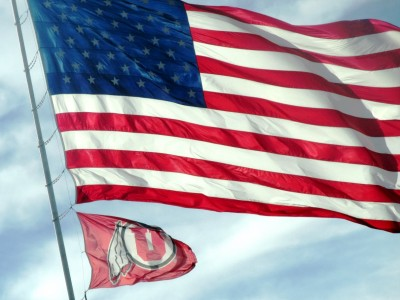 American and UofU flags by Jack Simmons