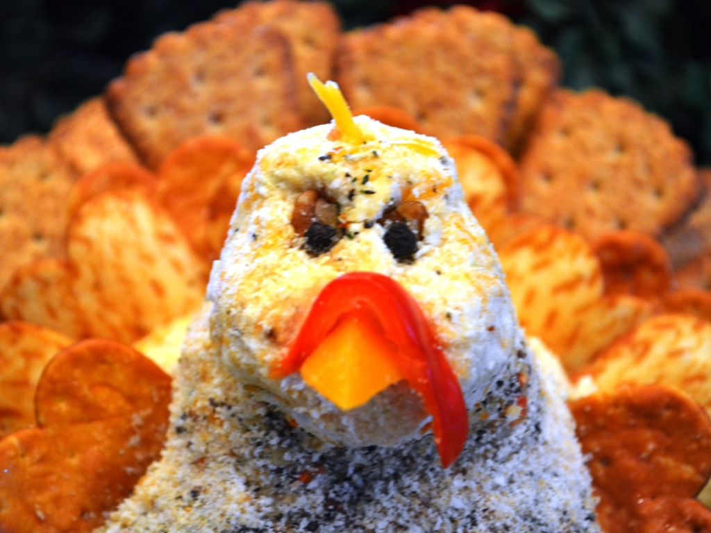 Make Amy's Turkey Cheese Ball and watch your friends and family gobble him up!